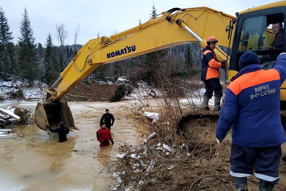 Rusijoje tragiškos nelaimės metu dingo vagonas aukso