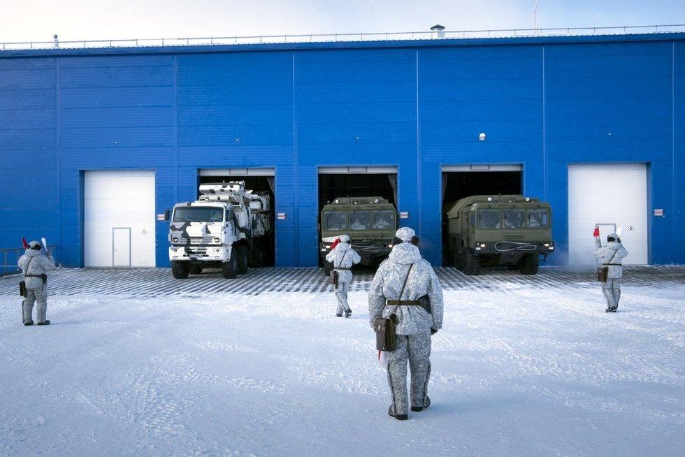 Rusijos karinė bazė Arktyje (nuotr. SCANPIX)