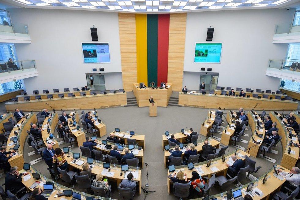 Seimo plenarinis posėdis (nuotr. Eimanto Genio)