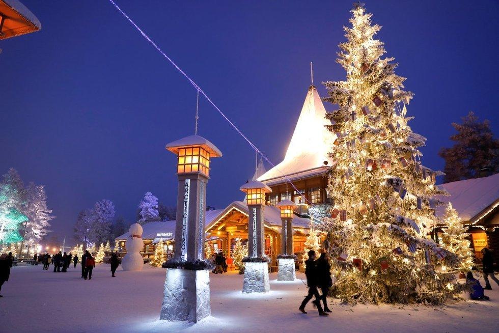 Kalėdų Senelio kaimelis Suomijoje (nuotr. SCANPIX)