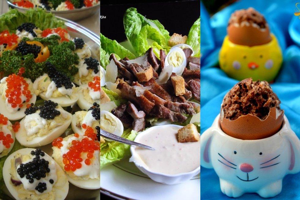 Receptai iš likusių kiaušinių (Nuotr. Skanus gyvenimas, Ritos receptai, Samčio užrašai)