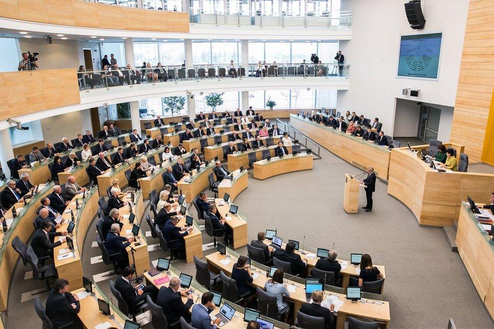 Seimui pristatyta rudens sesijos darbų programa (nuotr.  2017 m. rugsėjo 10 d. 12:36 Seimo kanceliarijos (aut. O. Posaškova)