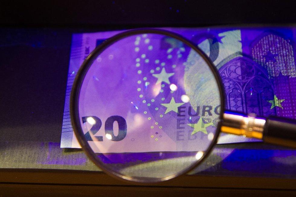 20 eurų banknotas  (nuotr. Tv3.lt/Ruslano Kondratjevo)