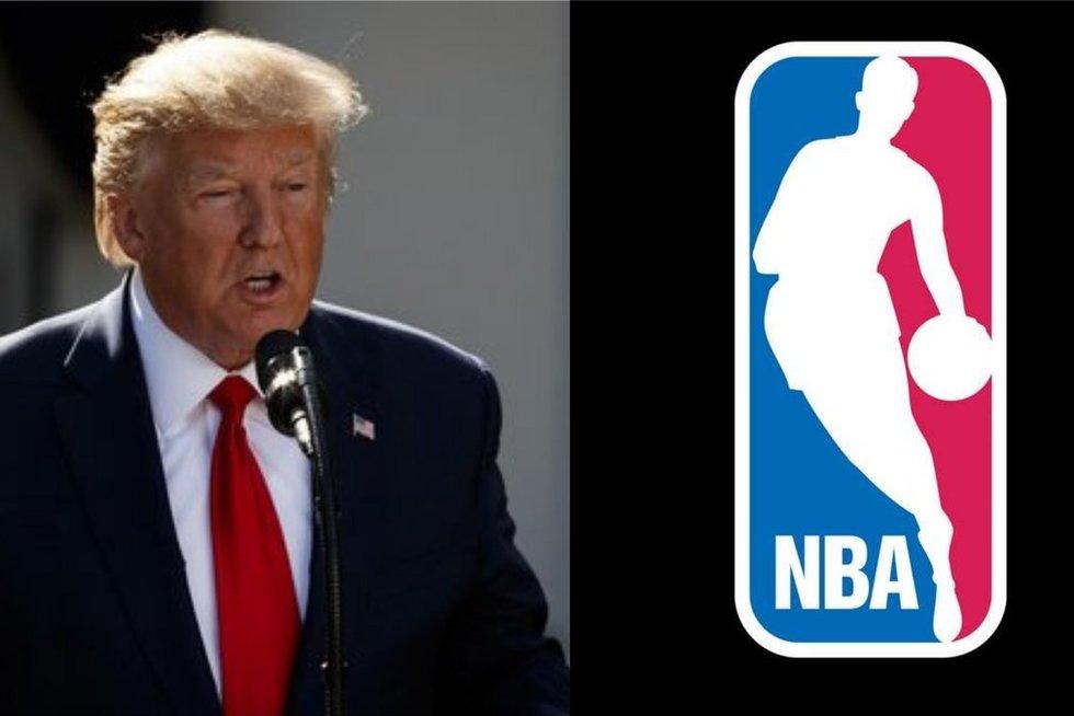 D. Trumpas pasisakė apie Kinijos ir NBA konfliktą (tv3.lt fotomontažas)