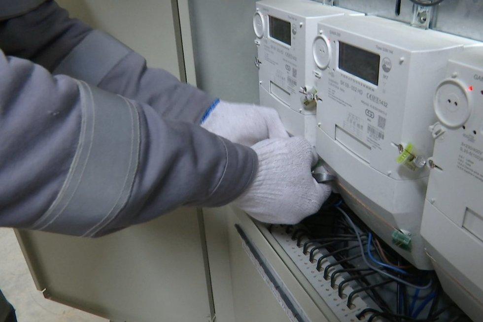 Elektros skaitikliai (nuotr. stop kadras)