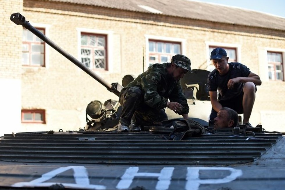 """""""Bet koks separatistų pajėgų mėginimas užimti papildomų teritorijų rytų Ukrainoje būtų akivaizdus pažeidimas"""" (nuotr. SCANPIX)"""