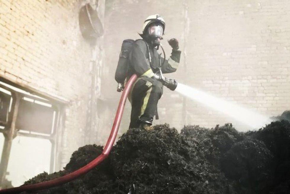 Akimirkos iš gaisro Alytuje (nuotr. organizatorių)