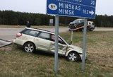 Didelė avarija Vilniaus rajone: pagyvenusi moteris rėžėsi į baltarusių šeimos automobilį