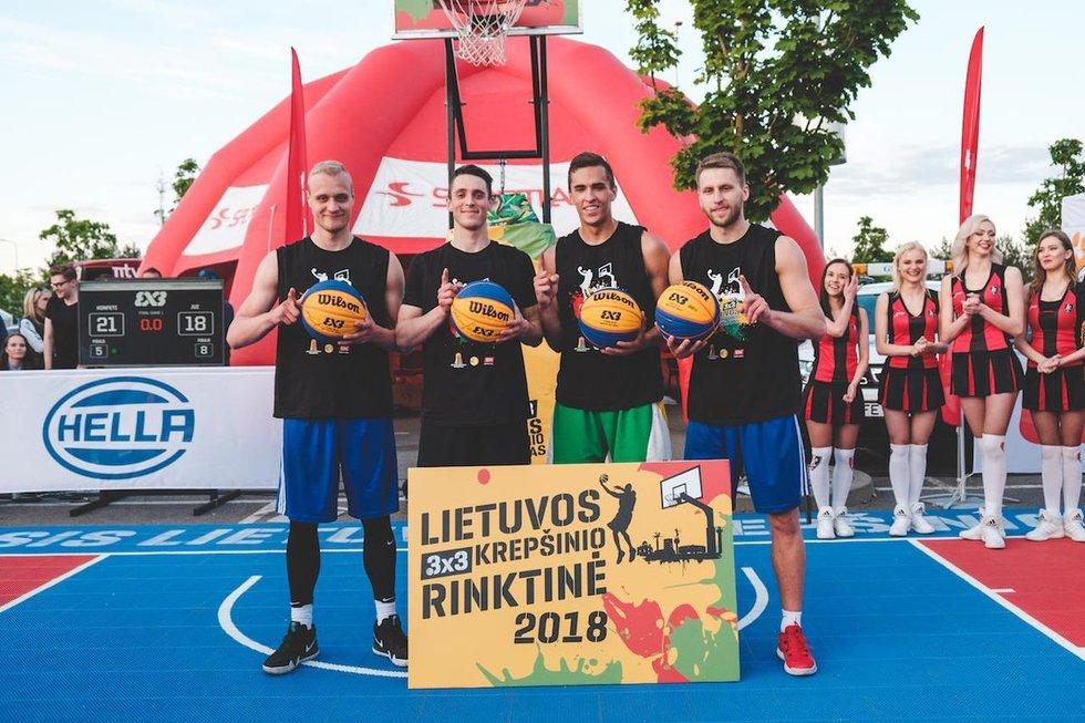 """""""Konfeti"""" dalyvaus 3X3 Europos krepšinio čempionato atrankoje (nuotr. Organizatorių)"""