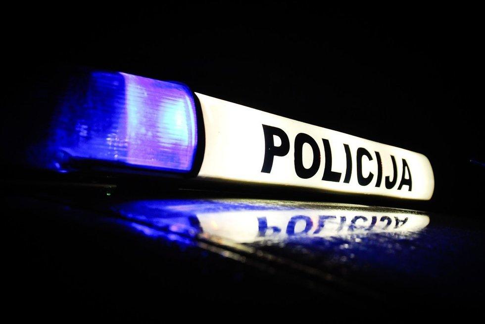 Policija, švyturėliai (Fotodiena/Ieva Budzeikaitė )