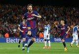 """""""Barca"""" į pergalę atvedė Leo Messi """"hetrikas"""""""