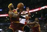 """Jono Valančiūno dvigubas dublis nepadėjo """"Raptors"""" krepšininkams įveikti """"Cavaliers"""""""
