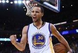 """Neapginami Curry tritaškiai talžė lyderio Dončičiaus vedamą """"Mavericks"""""""