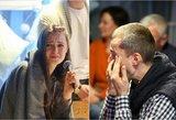 Į renginį pakvietusios Ievos Zasimauskaitės vyras šluostėsi ašaras