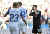 Pasaulio čempionate – Leo Messi nesėkmė ir danų bei kroatų pergalės