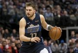 """Dončičiaus ir Porzingio dvigubi dubliai: """"Mavericks"""" parbloškė """"Clippers"""""""