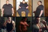 Nutukęs vyras per pusantrų metų numetė 115 kilogramų ir tapo kūno rengybos treneriu