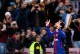 """""""Barcelona"""" ir toliau nesustabdoma, """"Real"""" vėl prarado taškų"""