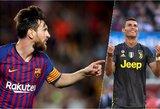 Cristiano Ronaldo ir Lioneliui Messi – trenerių liaupsės
