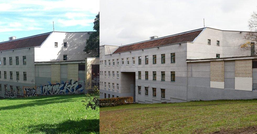 Vilnius atsinaujina: šiemet nuvalyta 1000 kv. m grafičių (nuotr. Sauliaus Žiūros)