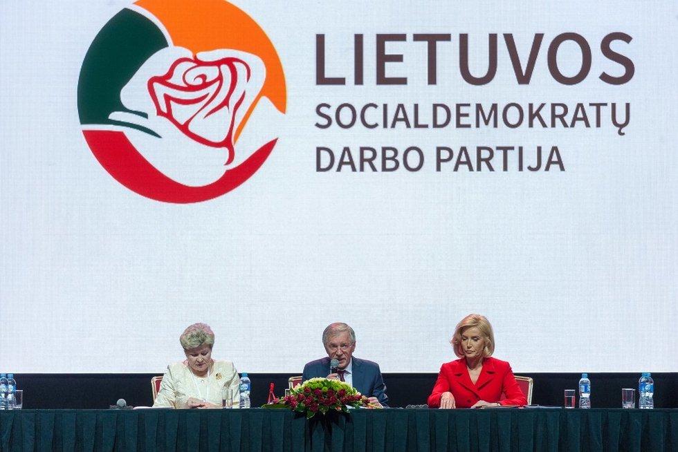 Lietuvos Socialdemokratų darbo partijos steigiamasis suvažiavimas (nuotr. fotodiena/Justino Auškelio)