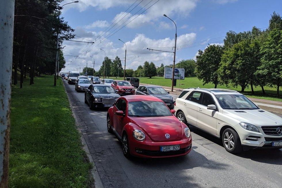 Avarija Vilniuje  (nuotr. Broniaus Jablonsko)