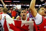 """""""Raptors"""" džiaugsmas: NBA finalo seriją dabar laimėti bus dar lengviau"""