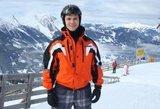Aktorius Audrius Bružas: slidinėti naktį – labai romantiška