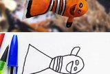 Juoko dozė: linksmus vaiko piešinius tėtis paverčia realybe