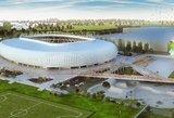 Nacionalinio stadiono konkurse vertinti raginama tik vieną dalyvį