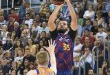 """""""Barcelona"""" šventė penktą pergalę iš eilės Eurolygoje"""