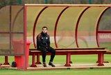 Stringantis Henrikhas Mkhitaryanas ant atsarginių suolo paliktas ir treniruotėje