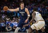"""Eilinė diena NBA: Dončičiaus trigubas dublis ir merdintys """"Warriors"""""""