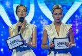 """""""Eurovizijos"""" atrankų vedėjos nustebino įvaizdžiu: griežtas moteriškumas"""