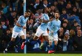 """Trys Sterlingo įvarčiai padovanojo """"Man City"""" pergalę"""