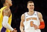 NBA naktis: nesuvaldoma latvio jėga ir rekordą pakartojęs LeBronas