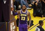 """Istoriją sukūręs LeBronas aplenkė Jordaną, bet """"Lakers"""" toliau skęsta"""