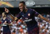 """""""Arsenal"""" siautėjo Valensijoje ir pateko į Europos lygos finalą"""