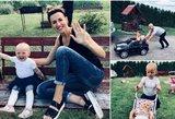 K. Zvonkuvienė su dukrele – identiškos: savaitgalį praleido draugų kompanijoje