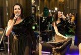 Panevėžio kazino apsilankiusi K. Zvonkuvienė tapo pažiba: suknelę puošė gilus skeltukas