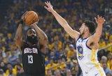 NBA čempionai dramatiškai laimėjo pirmąjį favoritų mūšį
