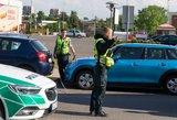 Masinė avarija sostinėje: Ozo gatvėje susidūrė šeši automobiliai
