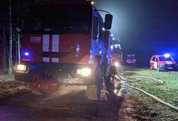 Skaudi nelaimė Panevėžio rajone – per gaisrą žuvo žmogus