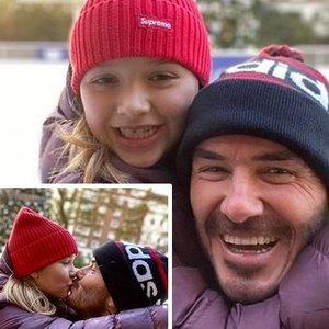 Beckhamo nuotrauka supykdė gerbėjus: negalima taip elgtis su dukra