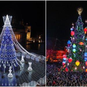 Palyginkite Vilniaus ir Kauno egles: kuri jums gražesnė?