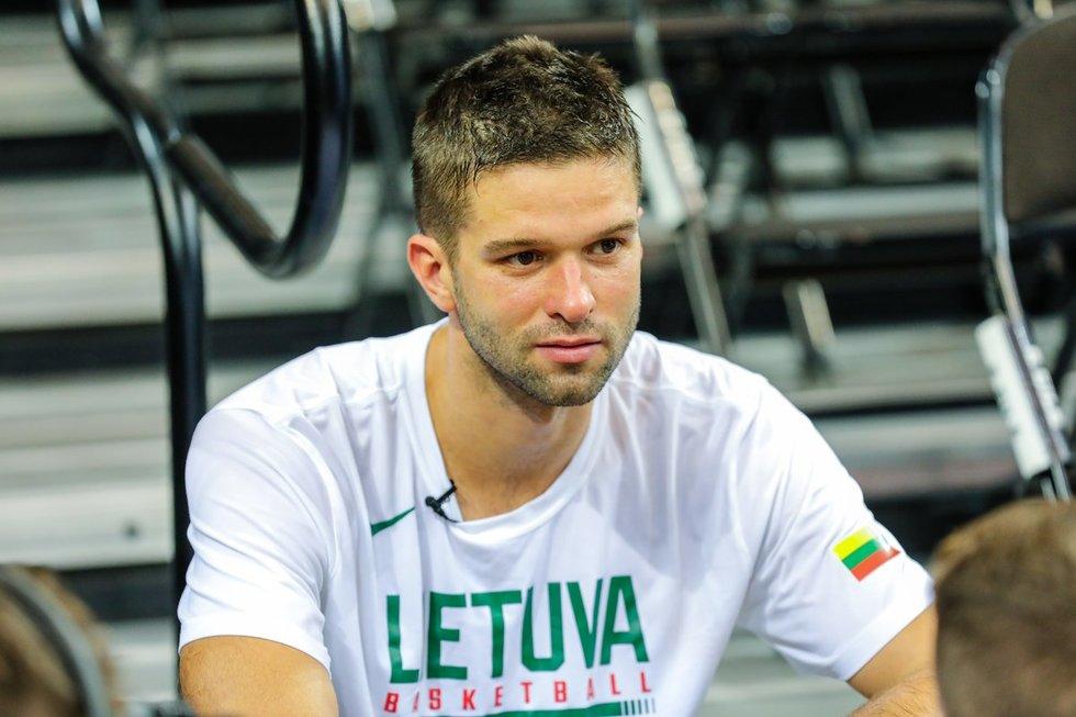 Lietuvos krepšinio rinktinės treniruotė (nuotr. Teodoras Biliūnas/Fotobankas)