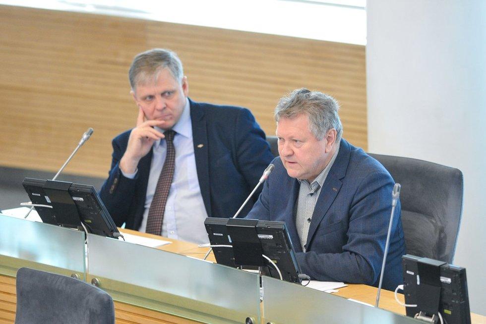 Edmundas Pupinis ir Kazys Starkevičius (nuotr. Fotodiena.lt/Roko Lukoševičiaus)