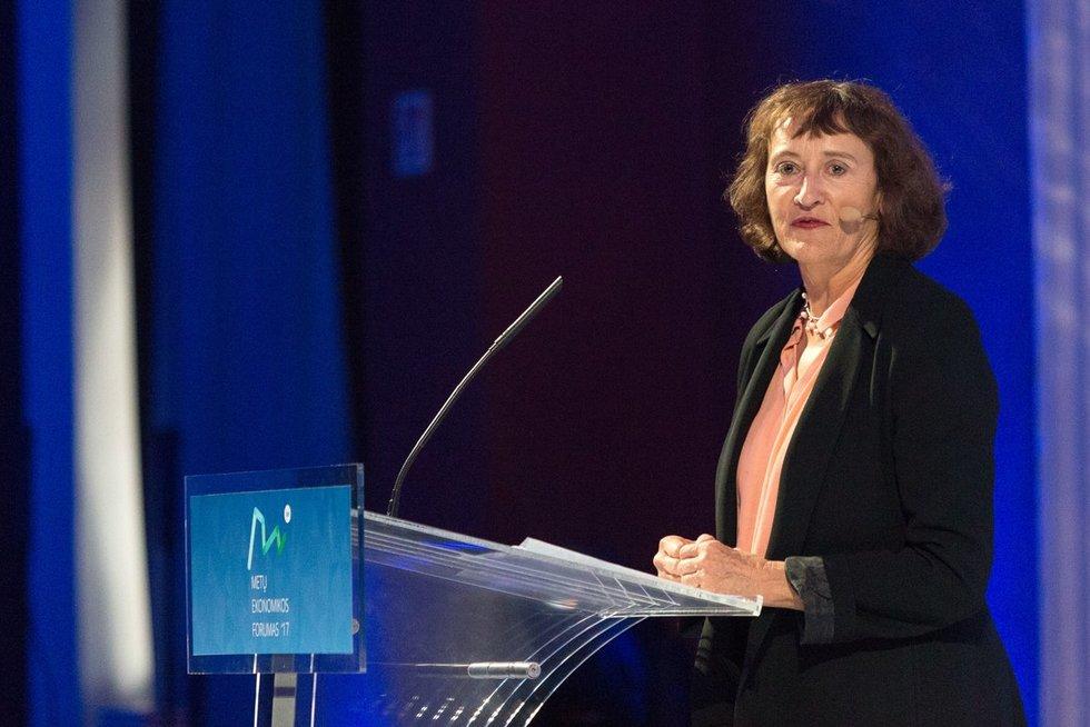 """""""Google Inc."""" vyriausioji politikos patarėja Caroline Atkinson  (nuotr. Fotodiena.lt/Eglė Mačiulskytė)"""