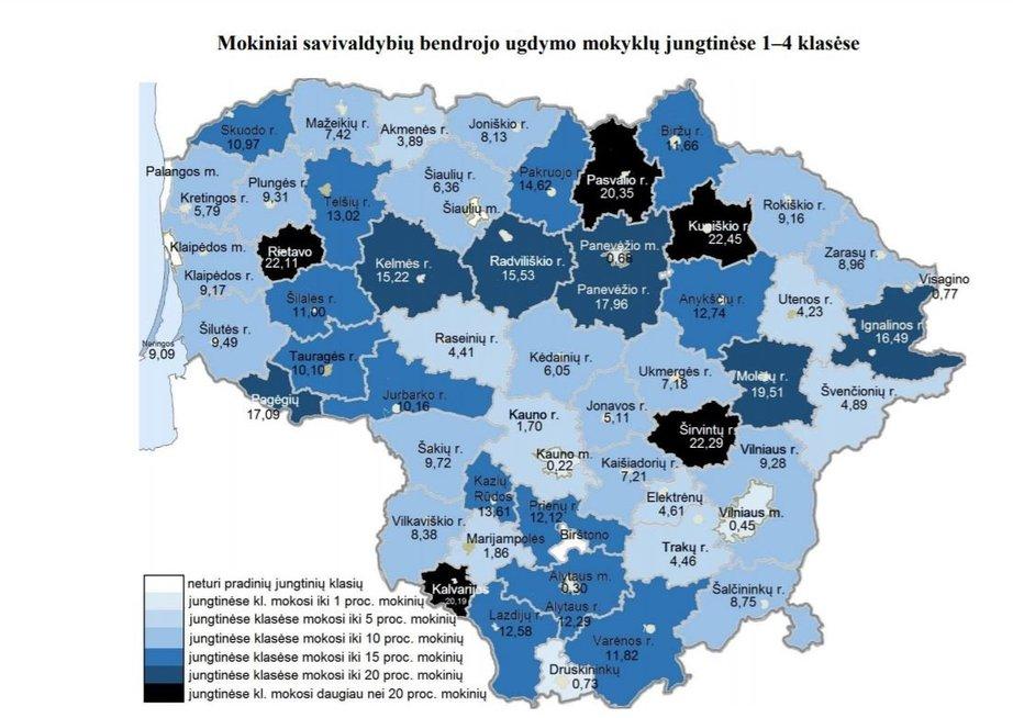 Jungtinės klasės Lietuvoje 2015-2016 metais (ŠMSM info.)