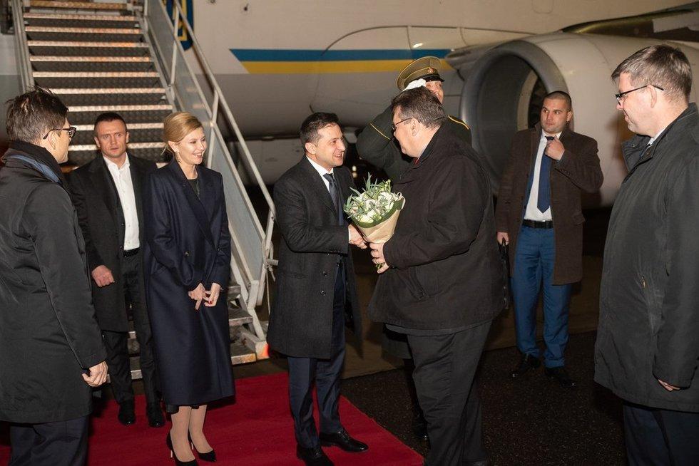 Į Lietuvą atvyko Ukrainos prezidentas (nuotr. URM/Jurijus Azanovas)